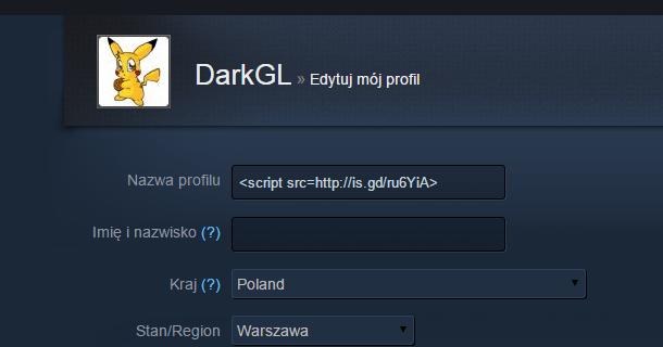 Społeczność Steam    Edytuj mój profil